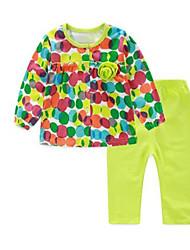 Girl's Clothing Set,Cotton Spring Green
