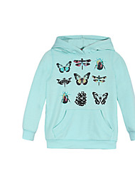 Girl's Hoodie & Sweatshirt,Cotton Winter Blue