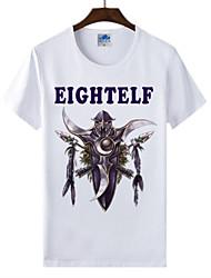 flamejantes mundo Light® of warcraft uau lycra de algodão t-shirt da raça elfos da noite cosplay