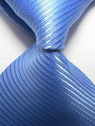 New Striped Blue JACQUARD WOVEN Men's Tie Necktie TIE2044