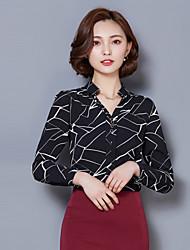 Spring New Women Slim Long-Sleeved Chiffon Shirt