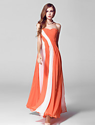 Formal Evening Dress-Orange Ball Gown Sweetheart Ankle-length Chiffon