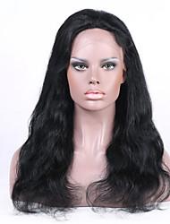 indio remy del pelo humano pelucas llenas 8-26inches o frontal de la celebridad del cordón del estilo de la onda natural natural de la