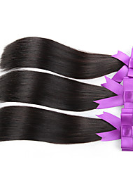 3pcs / lot pas cher peruvian cheveux vierges droite non transformés cheveux peruvian cheveux humains tissage faisceaux cheveux raides