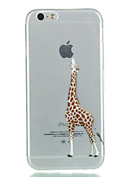 iphone 7 плюс жираф TPU мягкий случай телефона для iphone 5SE / 5 / 5s