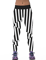 Women's Striped Black Active Pants,Active