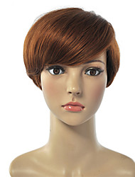 Hot Lady High-temperature Light Brown Color Short Synthetic Hair