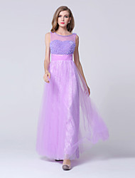 Formal Evening Dress Sheath/Column Sweetheart Ankle-length Lace / Tulle