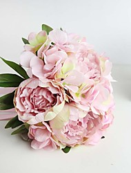 Beautiful Wedding Bouquet Peonies and Hydrangeas Pink Artificial Bouquet