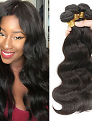 "Mix Size 3Pcs/Lot 8""-26"" Brazilian Virgin Hair Body Wave ,Natural Black Color ,Raw Human Hair Weaves"