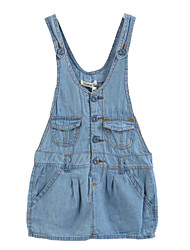 Girl's Blue Jeans,Dresswear Cotton Summer / Spring