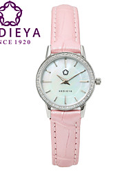 KEDIEYA Brand Watches Women Fashion Round Pearl Quartz Watch AAA Zircon Gems Dress Pink Wrist Watches for Women