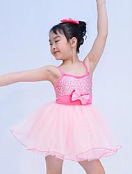 Abbigliamento da ballo per bambini Abiti / Tutù Per bambini Da esibizione Paillettes / Tulle / Licra Arco / Ruches Senza maniche Alto