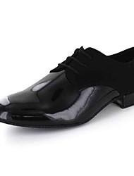 Customizable Men's Dance Shoes Latin / Dance Sneakers / Modern / Salsa Leatherette Flat Heel Black / Red