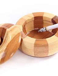 apple forma de bambu fresco cinzeiro rodada sem fumaça de madeira do charuto decorações cinzeiro casa artesanato
