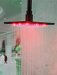 Monochrome LED Shower Nozzle Top Spray Shower Nozzle (Red)