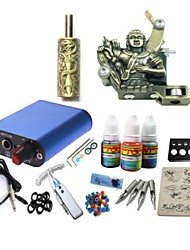 Tattoo Kit JH573 1 Machine With Power Supply Grips 3x10ML Ink