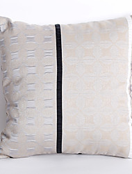 Jacquard Pillow Case with Geometric Design