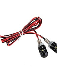 2 x CARCHET SMD 3528 LED White License Plate Screw Bolt Bulb Lamp Light Car