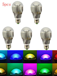 5pcs E27 5W RGB with Remote Control Multiple Colour RGB LED Bulb(85-265V)