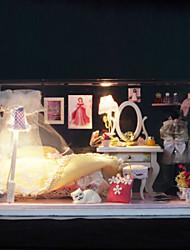 diy la maison de verre parfaite fleur jouets modèle manuel ont assemblé les lumières cadeaux lampe LED