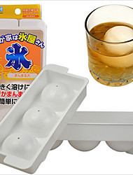 3 Grids Round Spheres Ice Ball Maker Mold  Ice Ball Cube Tray for Whiskey Beverage