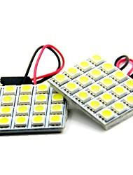 2pcs 12v 10w 39mm 5050 20SMD führte Leselampe, LED-Lampe Tür mit superhellen weißen