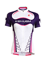 KEIYUEM® Cycling Jersey Unisex Short Sleeve BikeWaterproof / Breathable / Quick Dry / Windproof / Insulated / Rain-Proof / Dust Proof /