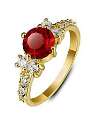 Anéis Fashion Casamento / Pesta / Casual Jóias Feminino Anéis Grossos 1pç,7 / 8 / 9 Dourado