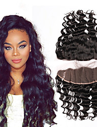 Kinky Curly Human Hair Closure Medium Brown gram Cap Size