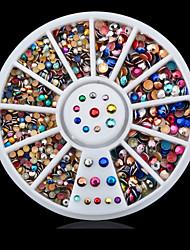 1roue coloré ongle décoration roue-Bijoux pour ongles-Doigt / Orteil- enAdorable-6cm roue