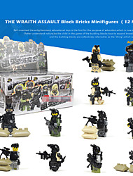 12piece/lot Wraith Assault Block Bricks Minifigures Sets Models Building Toy For Kids Enlightment Educational