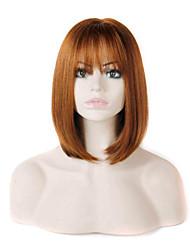 razonable con un estilo encantador de color marrón las pelucas sintéticas precio extensiones mujeres de la señora
