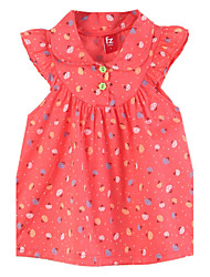 Girl's Red Dress,Cartoon Cotton Spring
