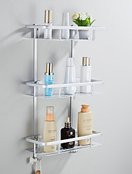 Bathroom Shelf Anodizing Wall Mounted 32*23*18cm Aluminum Contemporary