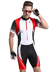 Nuckily Cycling Jersey with Tights Men's Short Sleeves Bike Clothing Suits Anatomic Design Ultraviolet Resistant Moisture Permeability