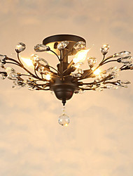 Vintage Crystal Flush Mount/E12/E14 5Lights/Metal Painting/ Living Room / Bedroom / Black OR Gold