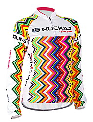 Nuckily Cycling Jersey Women's Long Sleeve Bike Jersey TopsWindproof Anatomic Design Ultraviolet Resistant Moisture Permeability Water