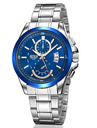 Men's Japanese Quartz Silver Steel Band Water Resistant Calendar Dress Watch Jewelry Cool Watch Unique Watch