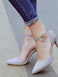 Women's / Girl's Wedding Shoes Heels / Pointed Toe Heels Wedding / Party & Evening / Dress Black / Pink / Silver