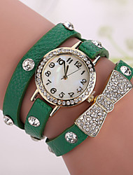 Xu™ Ladies' Fashion Bowknot Diamonds Bracelet Quartz Watch