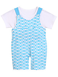 Girl's Overall & Jumpsuit,Cotton Summer Blue / Red