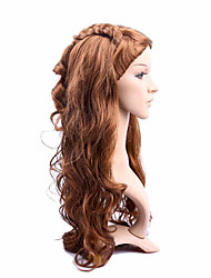 Long Length Hair European Weave Brown Color Hair Synthetic Wig