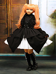 Steampunk®Cotton Black Halter Sleeveless Gothic Punk Lolita Dress JSK