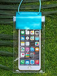 pvc caixas secas impermeável material adequado para celular iphone para mergulho / natação / pesca 19 * 10,5 centímetros