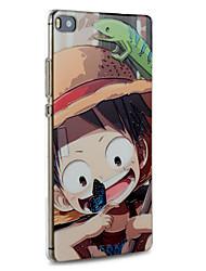 caso Huawei difícil desenhos animados luffy capa protetora ultra fino para p8 Huawei