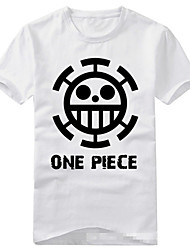 Inspiriert von One Piece Trafalgar Law Anime Cosplay Kostüme Cosplay-T-Shirt Druck Schwarz Kurze Ärmel T-Shirt-Ärmel