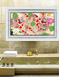 3D Wall Stickers Wall Decals Style Pond Fish PVC Wall Stickers