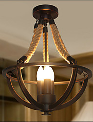 American Bedroom Ceiling Retro LED Rope Simple Aisle Lamp