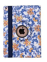 360 degrés porcelaine bleue et blanche en cuir PU de rabat pour ipad AIR3 / ipad pro mini-(couleurs assorties)